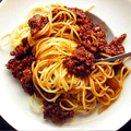 UD - Cincinnati Chili on a Pile of Spaghetti