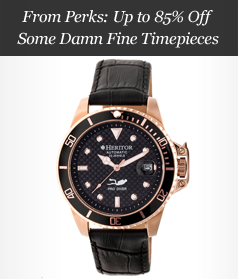 From Perks: Up to 85% Off Some Damn Fine Timepieces