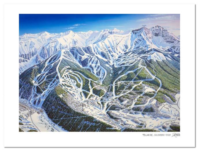 James Niehues ski maps