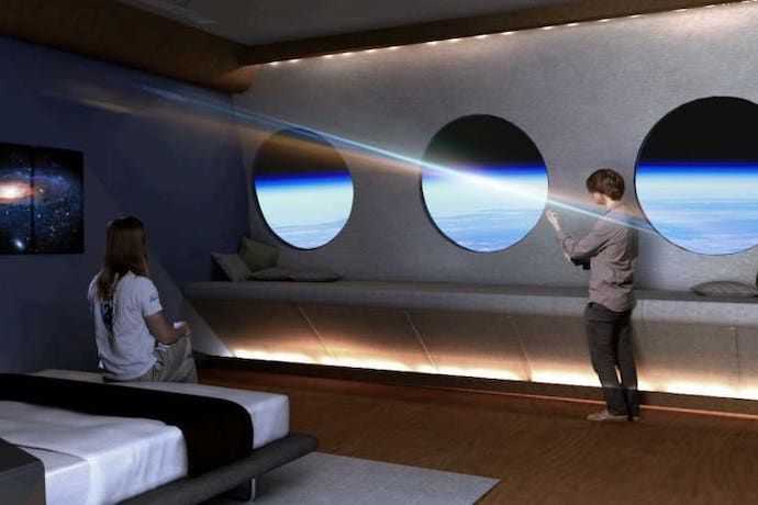 space voyager hotel room