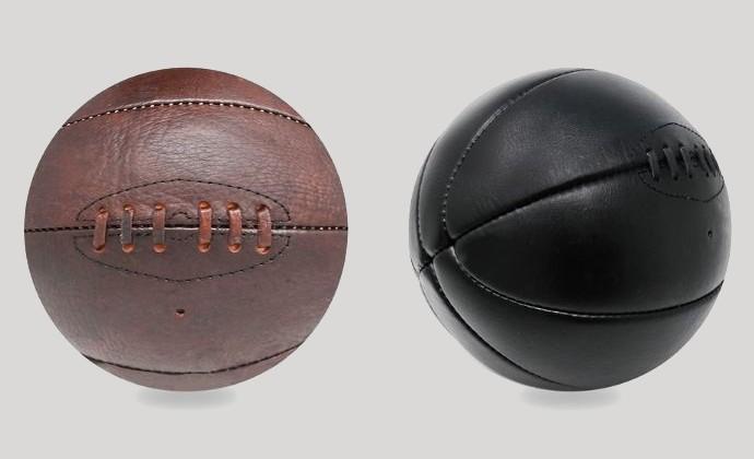 vintage leather basketball