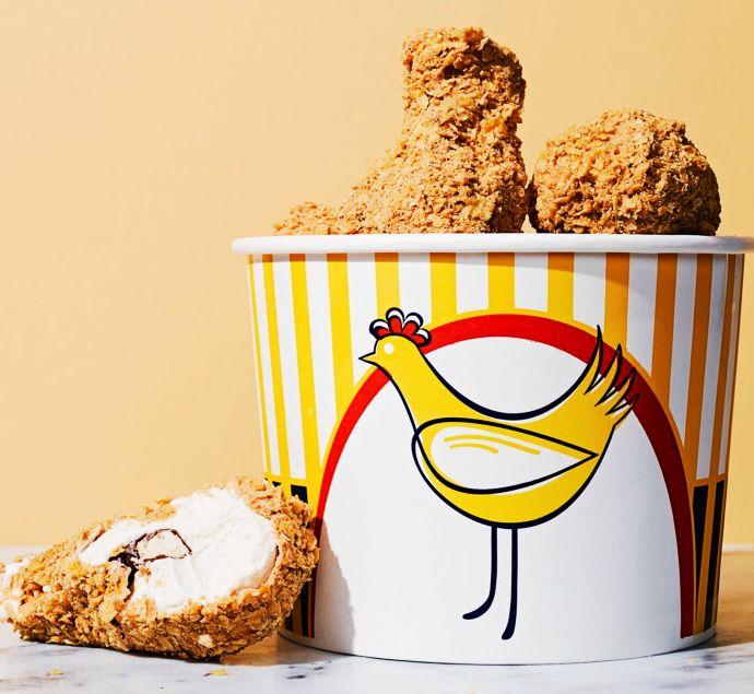 not fried chicken ice cream bucket
