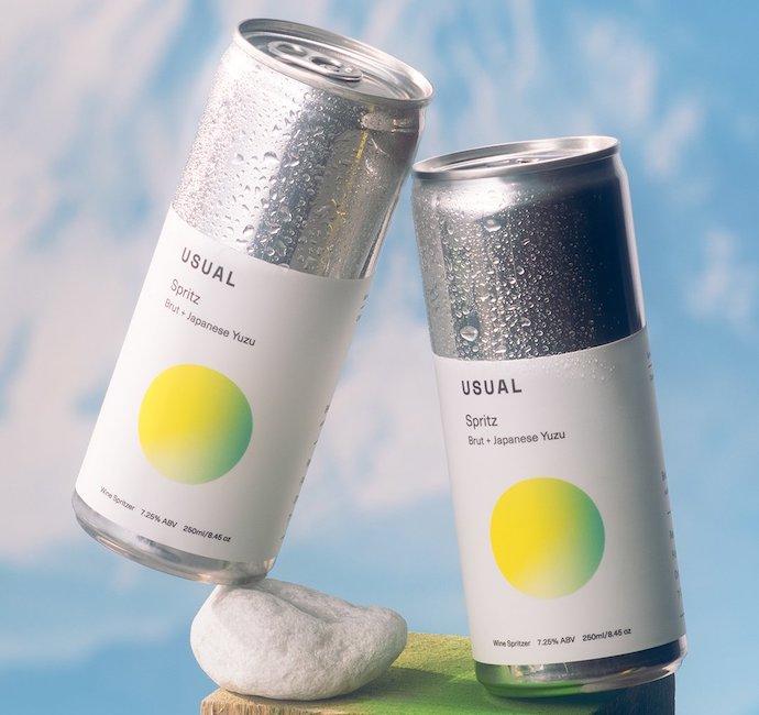 usual wines yuzu spritz cans