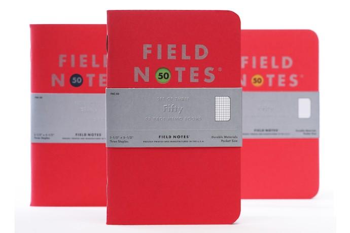 field notes 50th set memo bookk