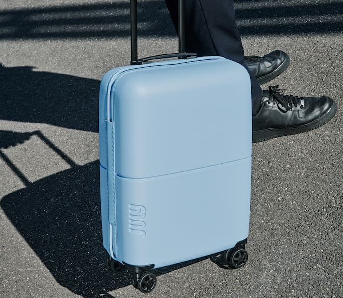 july lightweight carry on suitcase