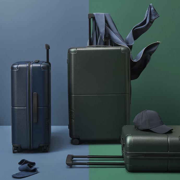 july luggage, rolling suitcases