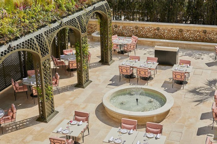 Airelles Château de Versailles outdoor dining