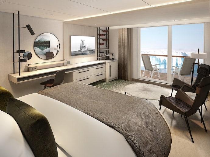Hurtigruten Expeditions MS Roald Amundsen guest room