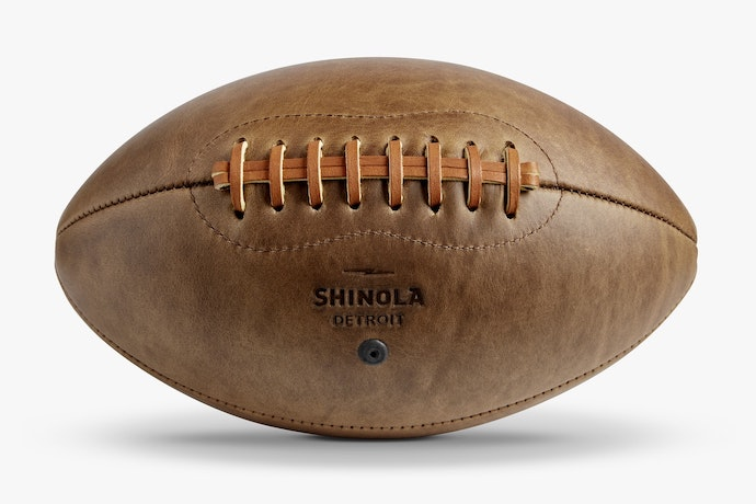 shinola leather football