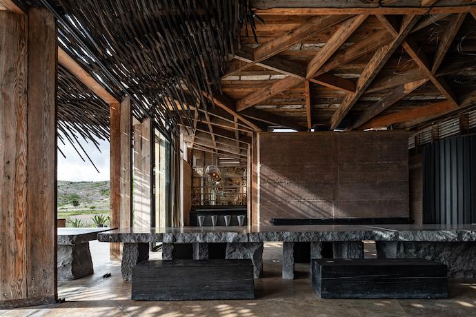 casa silencio communal dining table