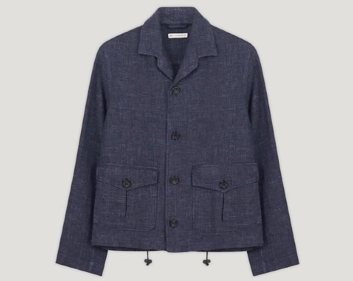 connolly linen giubbino jacket