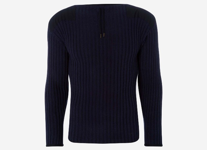 N. Peal ribbed army sweater