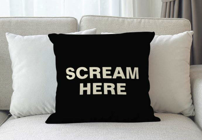 scream here pillow