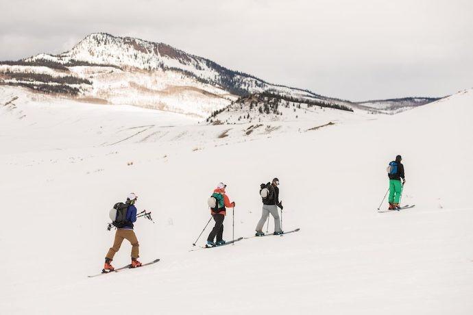 Bluebird Backcountry skiing