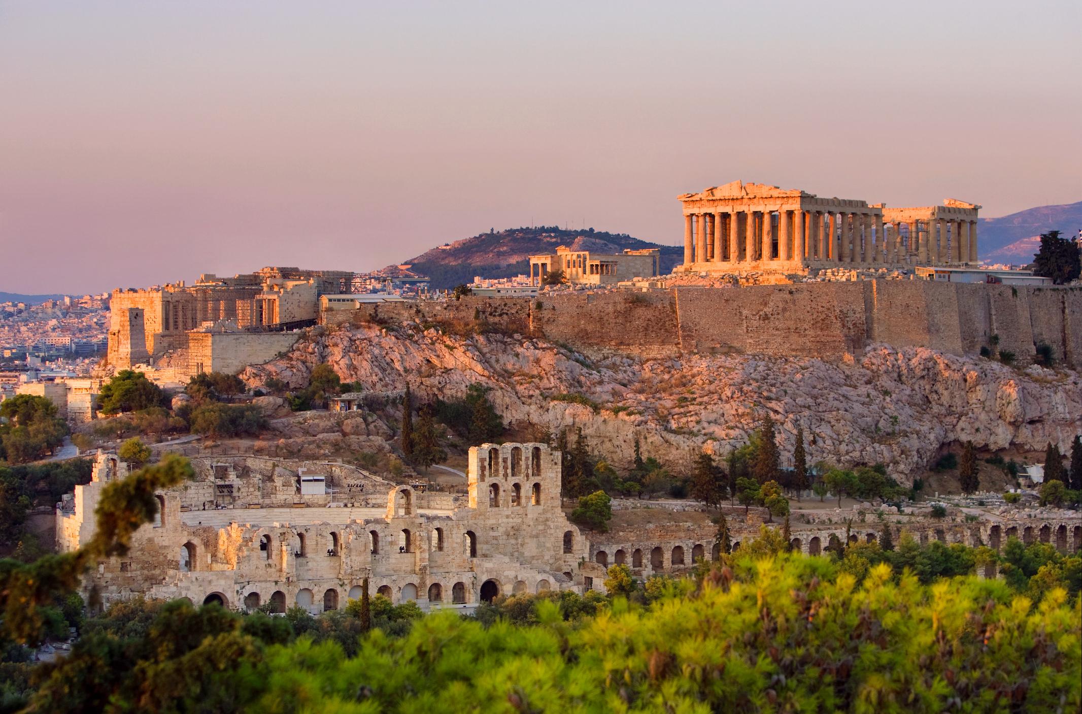 Athens Greece Acropolis Parthenon Mountain Expat Luxury Living