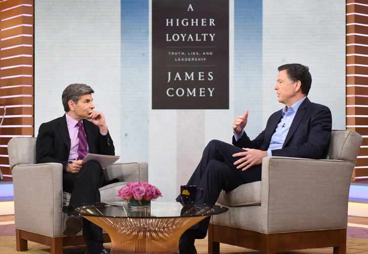James Comey George Stephanopoulos Higher Loyalty Trump