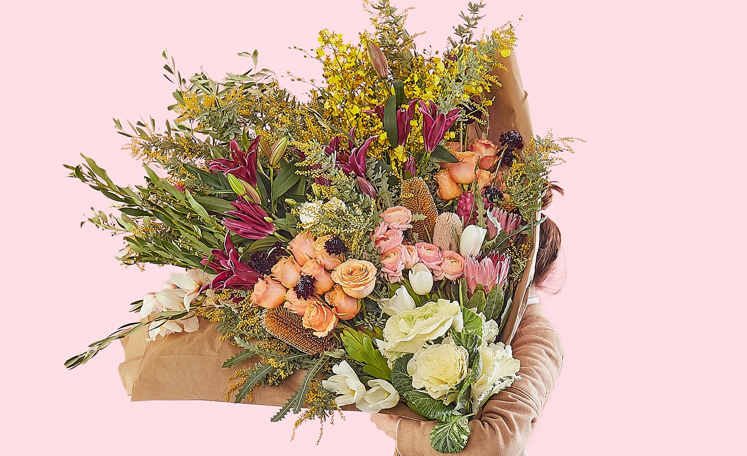 Extra aejo chocolates and a human size flower bouquet for anyone if youd rather say it with flowers same day bouquet company bloomthat has a 499 arrangement its calling the most extra bouquet izmirmasajfo