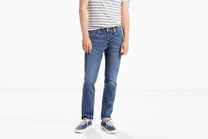 8783212185b Levi's 511 Authentic, $98. The original blue jean—made in America, worn by  America. (And by America, I mean Bruce Springsteen.)