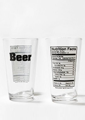 UD - Beer Nutrition Glasses