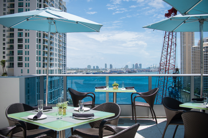 A New Rooftop and Poolside Restaurant High Above the Miami River