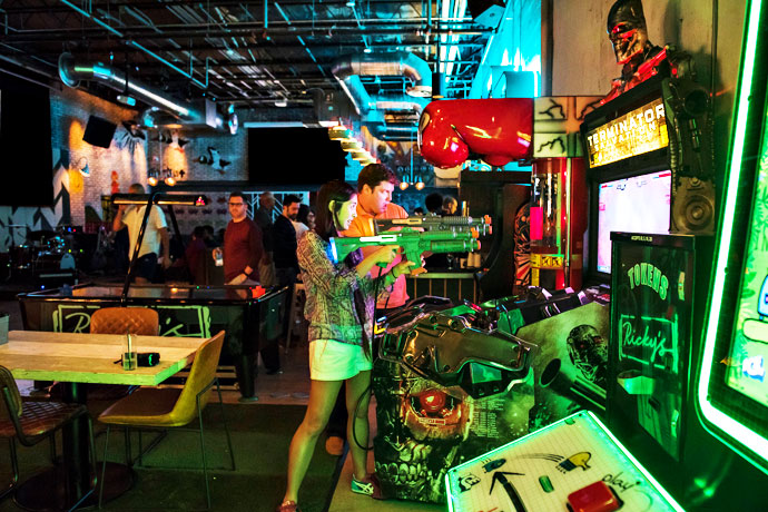 Rickys Miami Beach Funnel Cakes Whiskey and Arcade Games in SoBe