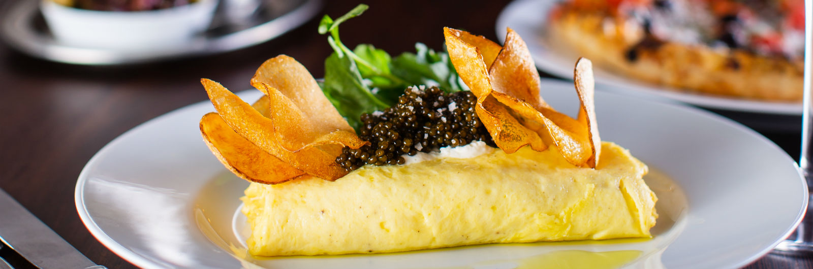 Your Omelets Now Include Potato Chips and Caviar