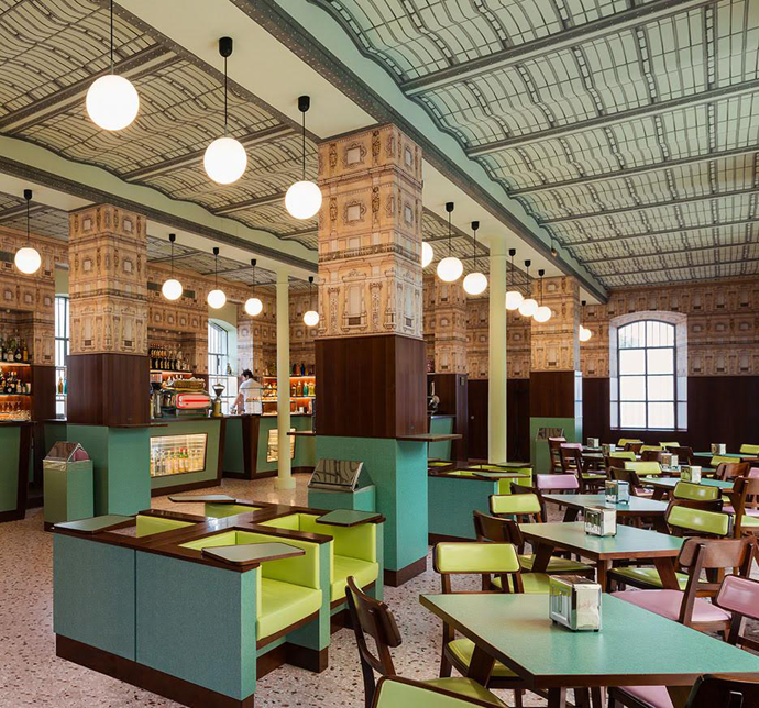 Breakfast Negronis at Wes Anderson's Milan Bar | Where the