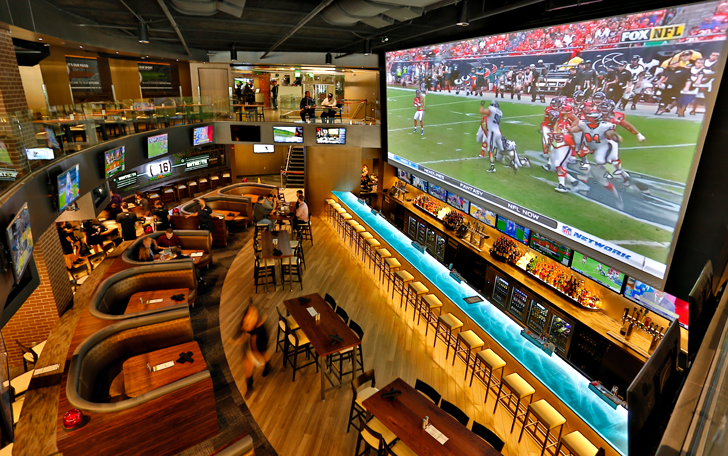 The Largest Sports Bar Screens in America | Because There