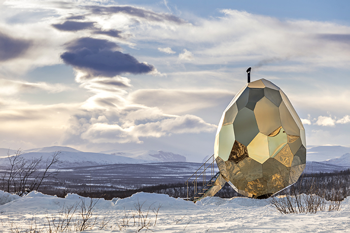 Sweat It Out in Sweden's Golden Sauna Egg