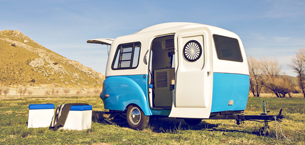 Camping Your Style This Retro Inspired Mini Camper Is Nice