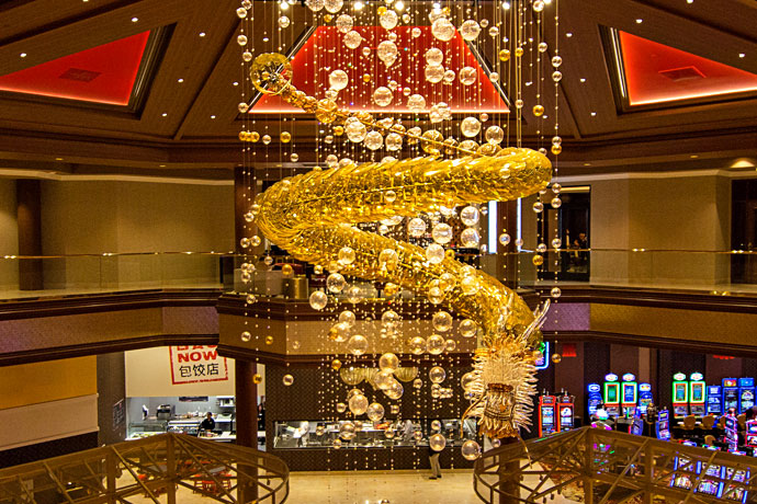Enter the Lucky Dragon Hotel & Casino