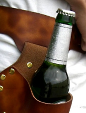 UrbanDaddy - Custom Leather Beer Holster