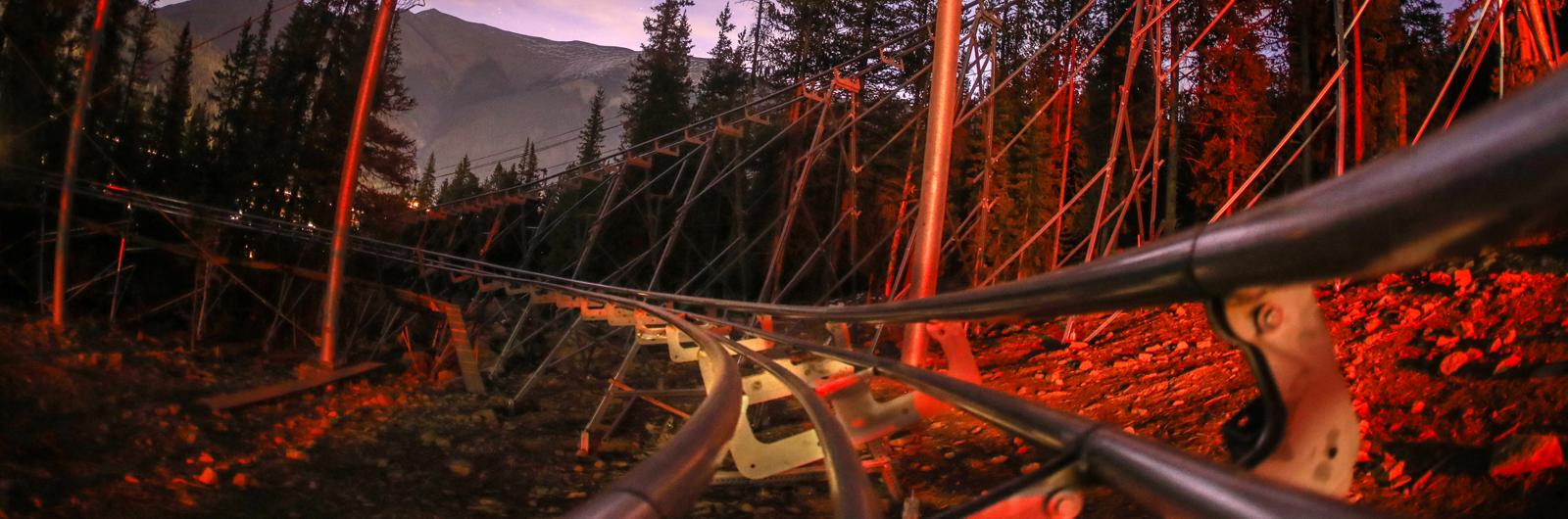 A Giant Roller Coaster Through the Rocky Mountains