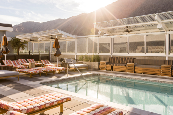 Meet the First and Only Rooftop Pool in Palm Springs