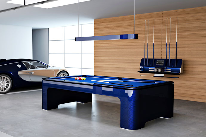 The RollsRoyce Of Pool Tables Add Some Carbon Fiber To Your Bank - Electronic pool table