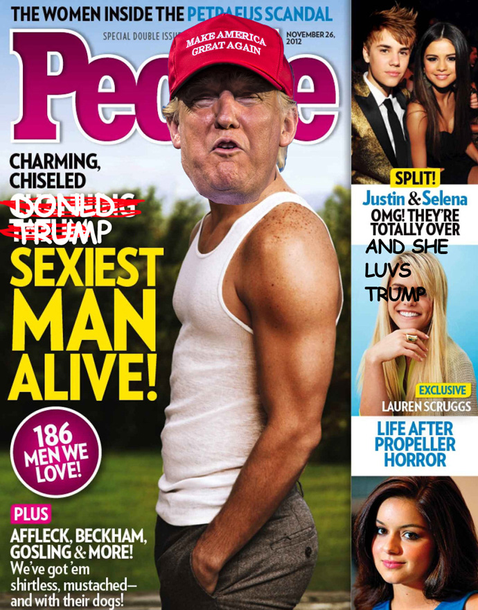 Fake People Magazine Cover Donald Trump Sexiest Man Alive