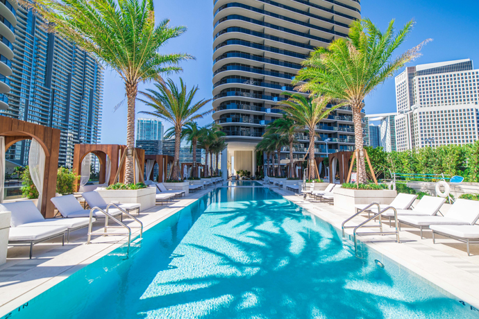Image result for sls miami pool""