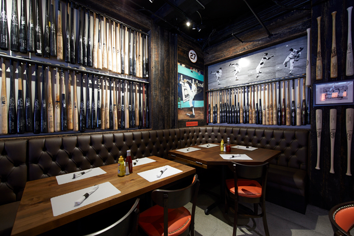 Ball Hot Dogs Giants Memorabilia And Walls Of Baseball Bats In Soma