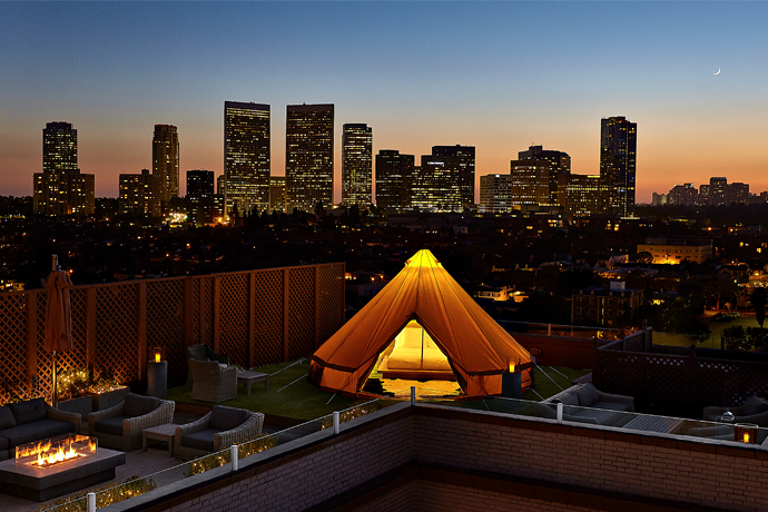 Gold S'mores and a Tent on Top of the Beverly Wilshire