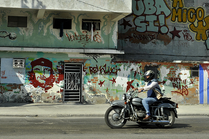 You're Cruising Cuba on a Harley