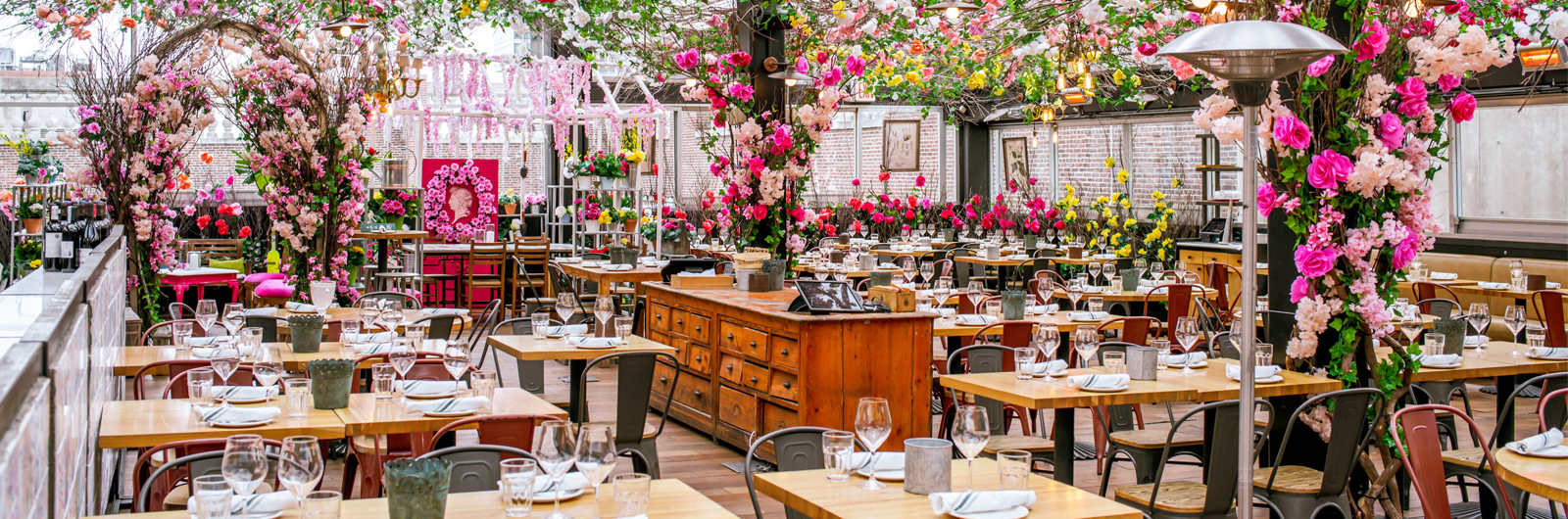 A Springtime Restaurant for Spritz Cocktails and Rustic Italian Charm