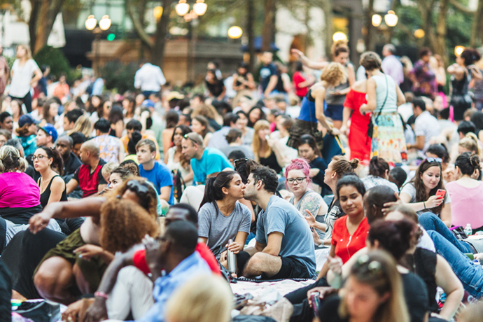 A Sunset Movie & Wine in Bryant Park Situation to Save Monday