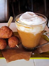 UD - Lobster Cappuccino with Lobster Beignets
