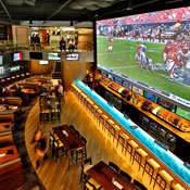 Only the Largest of American Sports Bar Screens