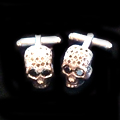 Black-Diamond Skull Cufflinks at Louis
