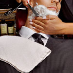 Hot Shave. Scotch. Suits. Mr. Sid.