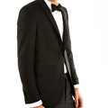 A Black Jacket. To Match Your Black Tie.