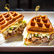 Nothing Like a Duck Waffle Sandwich to Start Sunday Off Right