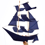 A Kite Shaped Like a Pirate Ship