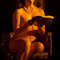Nude. Women. Reading.